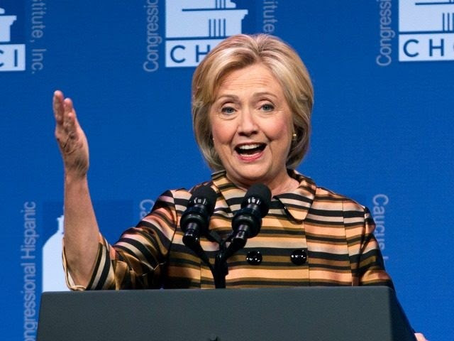 Democratic presidential candidate Hillary Clinton speaks to the Congressional Hispanic Caucus Institute's 39th Annual Gala Dinner held at the Washington Convention Center, in Washington, Thursday, Sept. 15, 2016. Clinton returned to the campaign trail after a bout of pneumonia that sidelined her for three days and revived questions about both Donald Trump's and her openness regarding their health..(