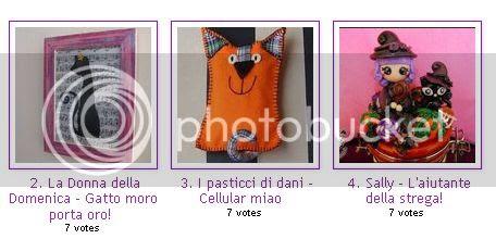 Linky Party by Topogina primo premio progetto fai d ate specchio di pasta di mais di Blu riciclo riuso creativo lavoretto handmade