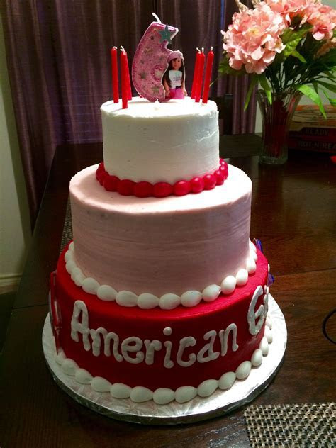 American girl cake From Sam's club. 3 tier   For Jacki