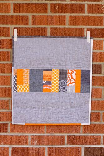 Orange + Gray Improv Mini by jenib320