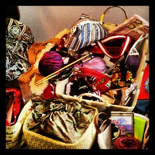 Just a fraction of my WIP bags... I have a problem! #knitting #knit #yarn #yarnbowl #wip #getyourkniton