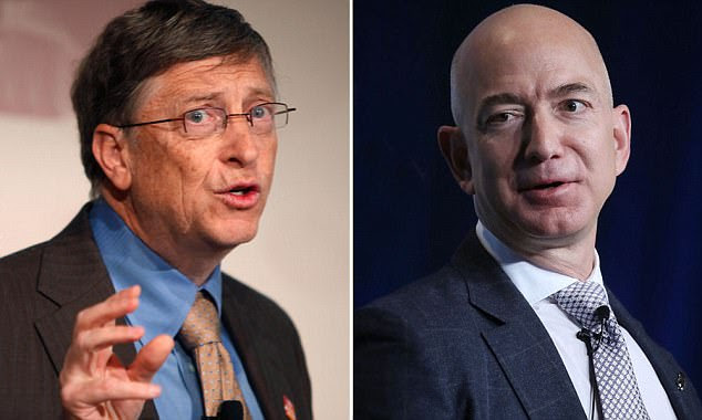 Image result for BEZOS AND GATES. BAD TO THE BONE