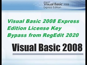 Visual Basic 2008 License Key Bypass from RegEdit 2020