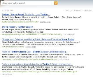 Bing Steve Rubel Twitter Search