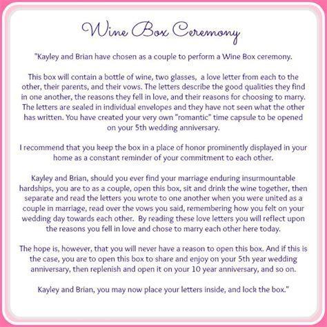 { ceremony details } the wine box ceremony » { Serendipity