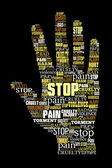 Word cloud stop violence — Foto Stock