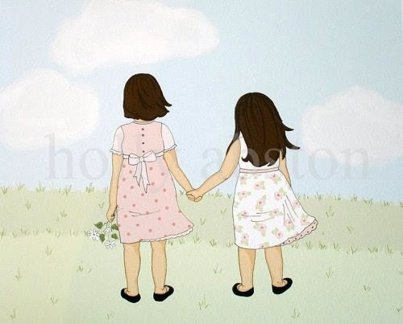 Sisters 8 x 10 art print