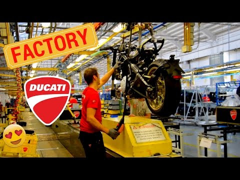 DUCATI FACTORY: 1ST SCRAMBLER PRODUCTION EVER! [CAFE-RACER] :Liked on YouTube
