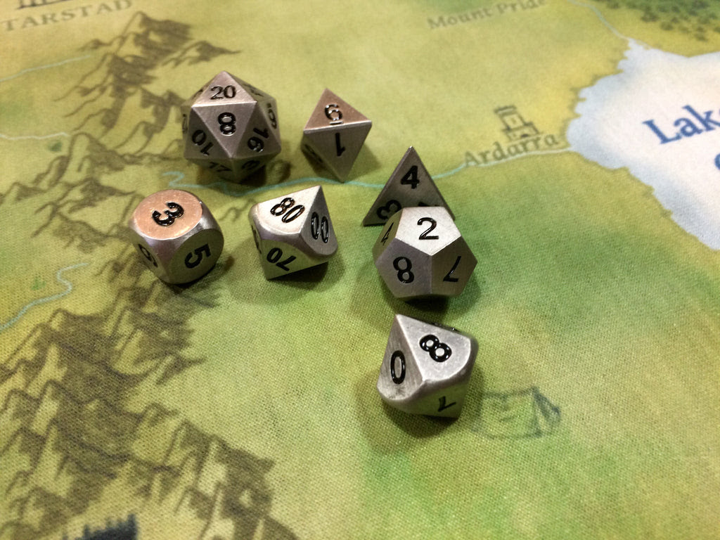 Using Metal Dice For Rpg Tabletop Games Dice Dungeons
