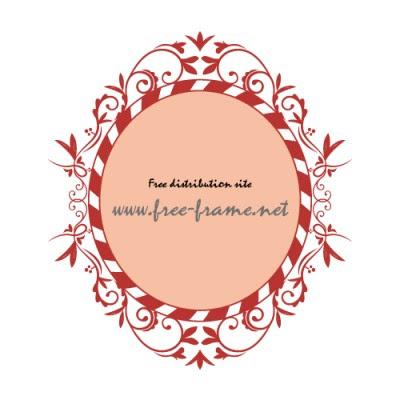西洋的な草のイラスト飾り枠フレーム 無料商用可能枠フレーム