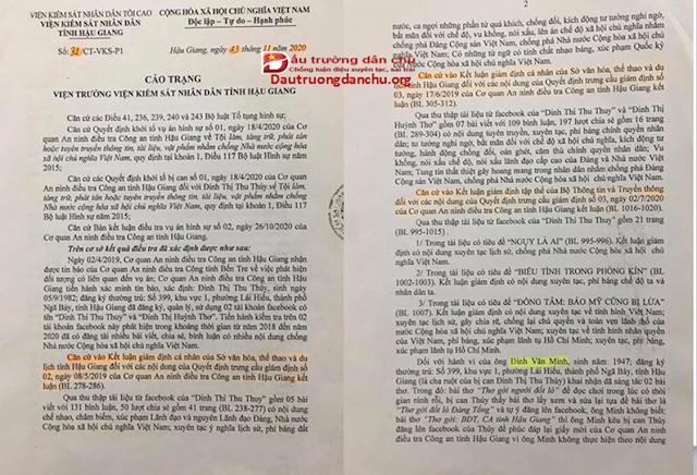 Xét xử kẻ tuyên truyền chống Nhà nước Đinh Thị Thu Thủy