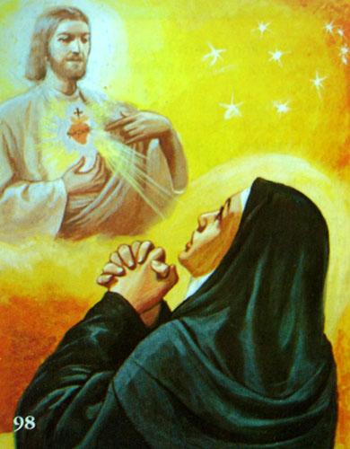 Chúa Giêsu đã hiện ra cùng bà thánh Magarita Maria