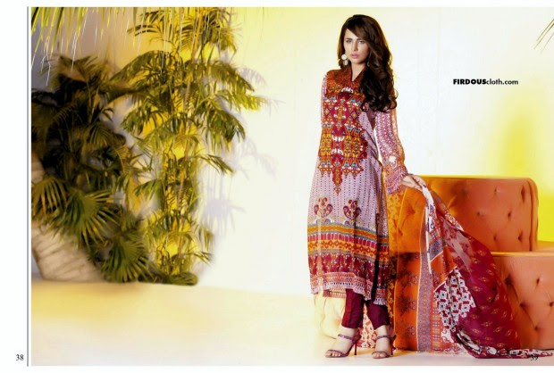 Firdous-Chiffon-Summer-Lawn-Collection-2013-Long-Shirt-with-Short-Tight-Trouser-7