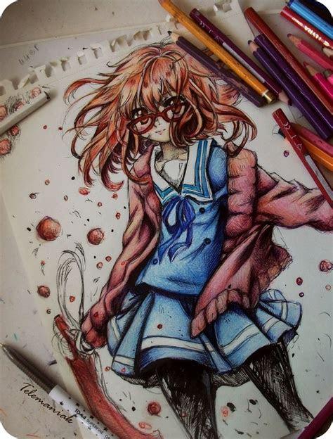 anime art anime girl school uniform cardigan