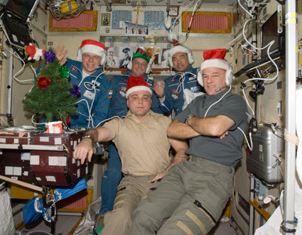 ISS022-E-014044 -- Expedition 22 crew
