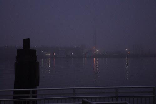 Elizabeth river fog