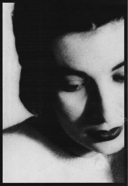 closeup portrait of Marie, Dec 1950
