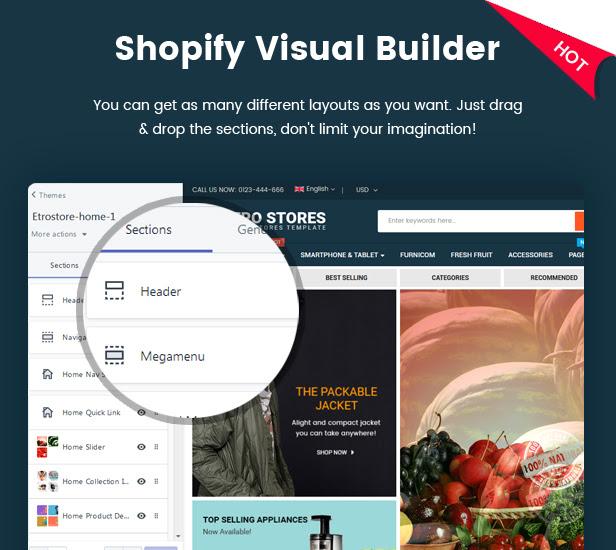 EtroStore - Multipurpose Responsive Shopify Theme