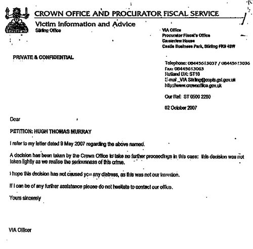 crown office letter