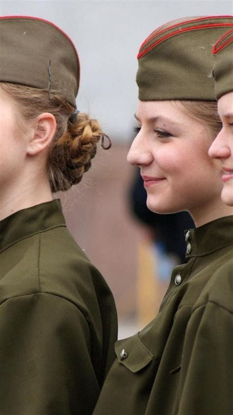Russia army girls military soldiers uniforms wallpaper