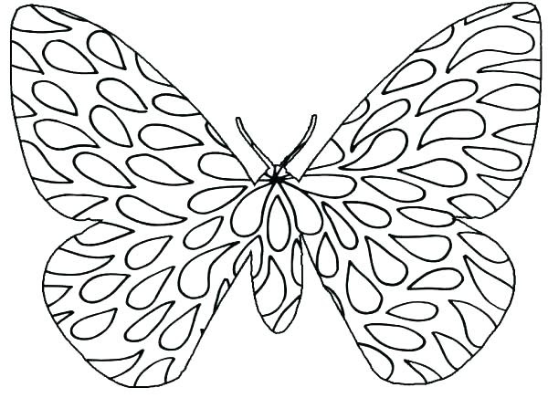 Easy Butterfly Coloring Pages at GetDrawings | Free download
