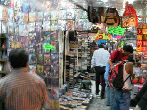 Pirated DVDs and MP3s for sale in Cuernavaca