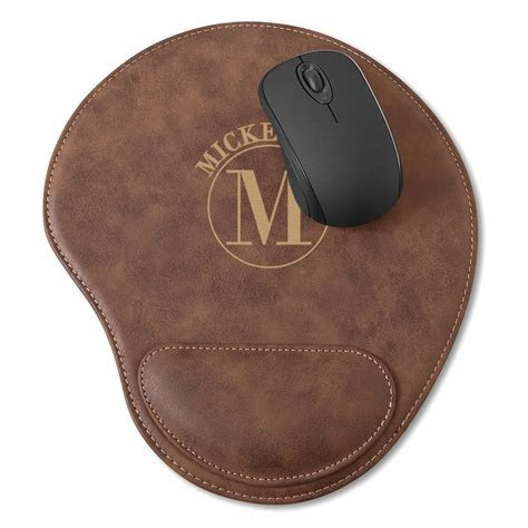 Personalized Mouse Pad with Wrist Rest   The Man Registry