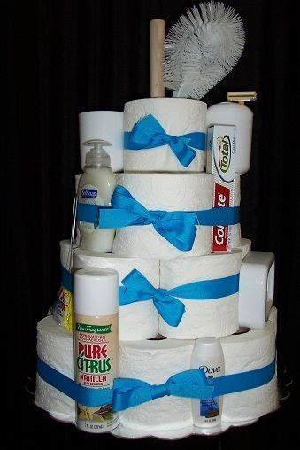 Unique Housewarming Gift. Toilet Paper cake includes