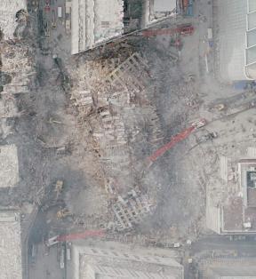aerial view of Ground Zero