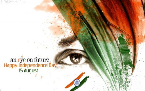 Happy Independence Day With Eye On Future Hd Wallpapers