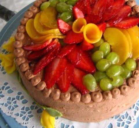 VillaTuta: Kolmen suklaan hedelmätäytekakku