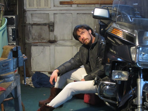 """""""What we Found on Craigslist"""", Series #15, Becoming Holden Vance  III, Honda 1:  a Think-tank/ Workplace for Chase Alias 2011, Holden Vance III photographed by Cubby by Chase Alias"""