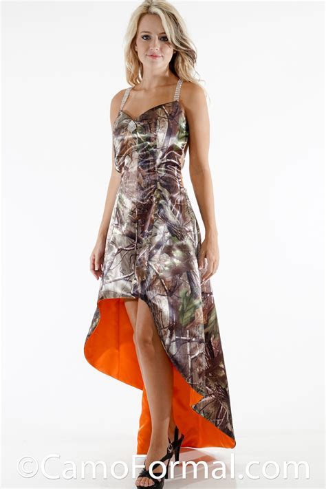 Strappy Back Extreme Hi Low Camo Dress Camouflage Prom