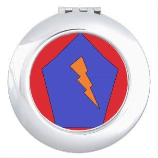 Pentagon-Lightening Compact Travel Mirror