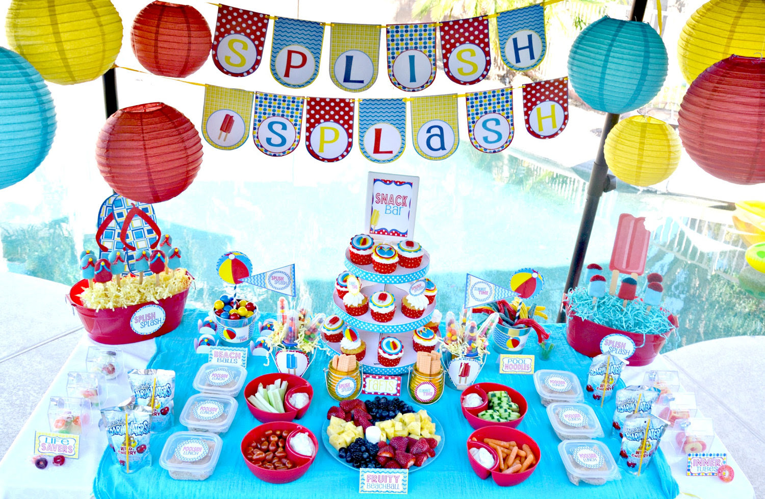 Swimming Pool Party Theme Ideas  Pool design and Pool ideas