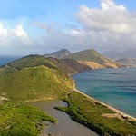 View of St Kitts and Nevis, Caribbean Islands
