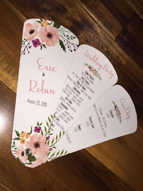 wedding program fans petal fan programs fan programs