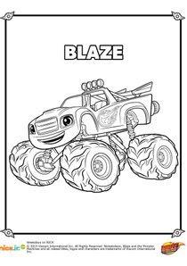 Coloriages Blaze Et Les Monster Machines à Imprimer Coloriages