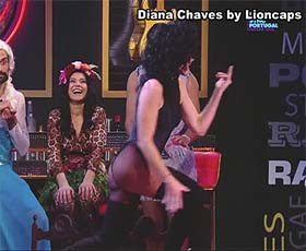 Diana Chaves super sensual no programa Lip Sync