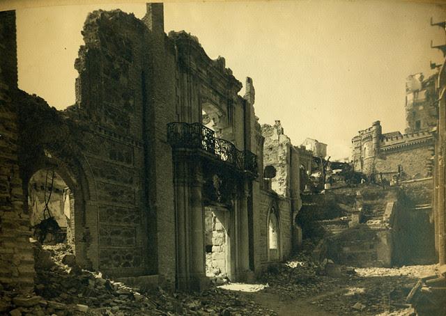 Edificio de Capuchinos en el Alcázar de Toledo destruido en la Guerra Civil. Fotografía de Pelayo Mas Castañeda. Causa de los mártires de la persecución religiosa en Toledo