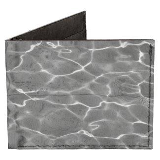 Light Reflections On Water: Black & White Billfold Wallet