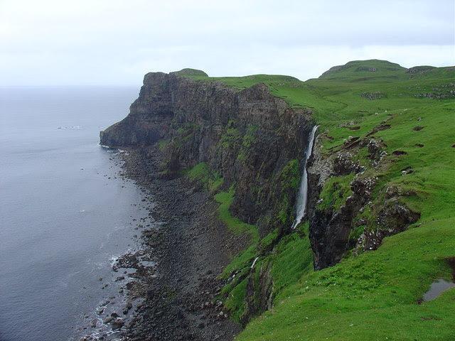 Waterfall At Talisker Bay Skye Alan White Geograph