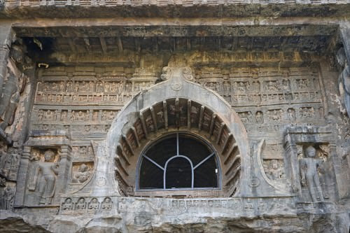 Façade of an Ajanta Cave