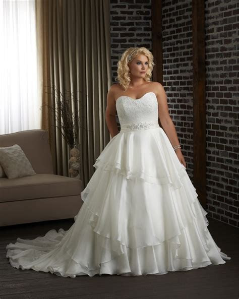 Plus Size A Line Princess Mermaid Wedding Dresses Beaded