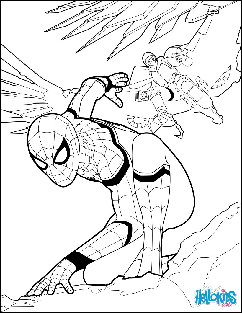 55 Coloring Pages Iron Spiderman , Free HD Download