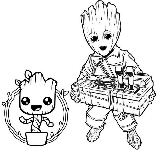 Baby Groot Coloring Pages - Coloring Pages Kids 2019