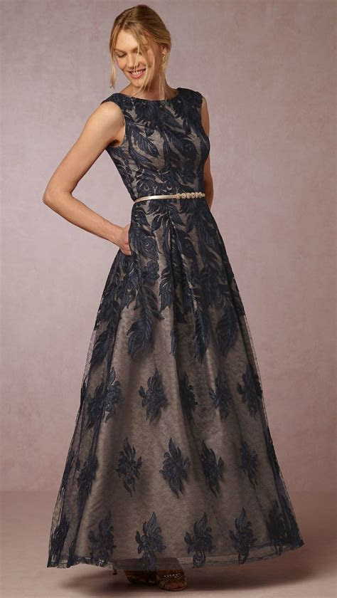 Navy Blue Lace Ballgown   Beautiful Mother of the Bride