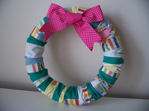 Spring Patchwork Wreath