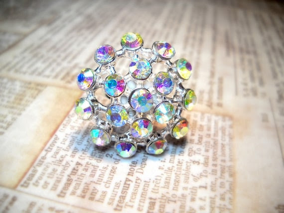 Hollywood Sparkle - Vintage Estate Rhinestone Cocktail Ring