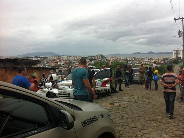 Criminoso é morto após assaltar festa em São José (Foto: Evandro Saad/Divulgação)